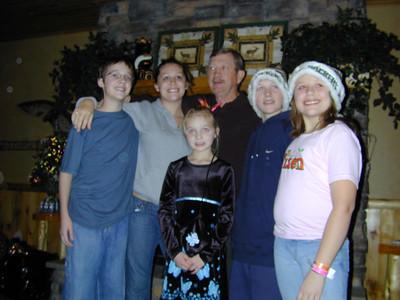 Kyle, Kelly, Grandpa, Shaena, Dustin and Jenna
