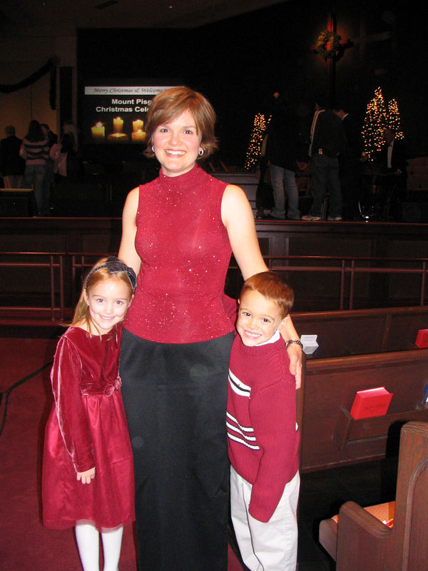 Holly sang in a Christmas concert at Mount Pisgah - our church.