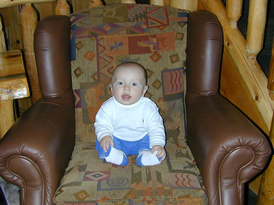 Look how little I look in this BIG chair!