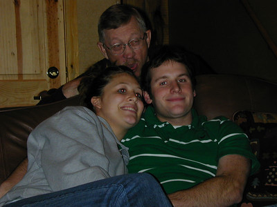 Kelly and Clint - Grandpa being silly :)