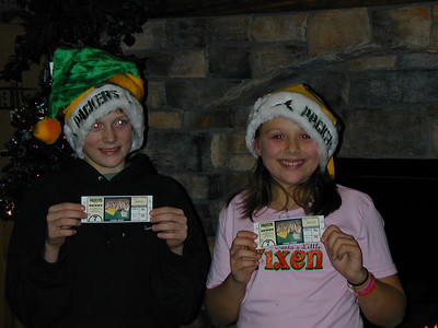 Yeah - we're going to see the Packer's play on Christmas Day...too bad they didn't win :(