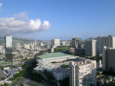 One view of Honolulu from our hotel lani