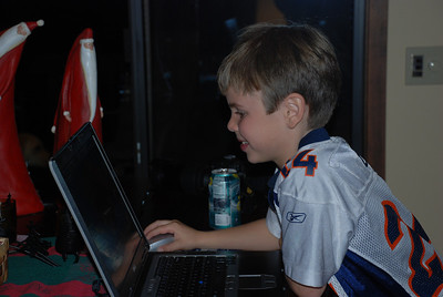 Justin Surfing the Net