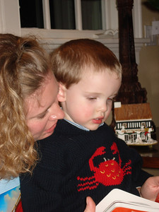 Mama and Alex reading