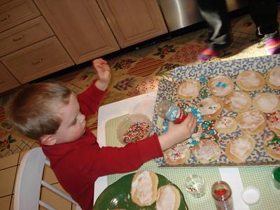 Making cookies for Santa