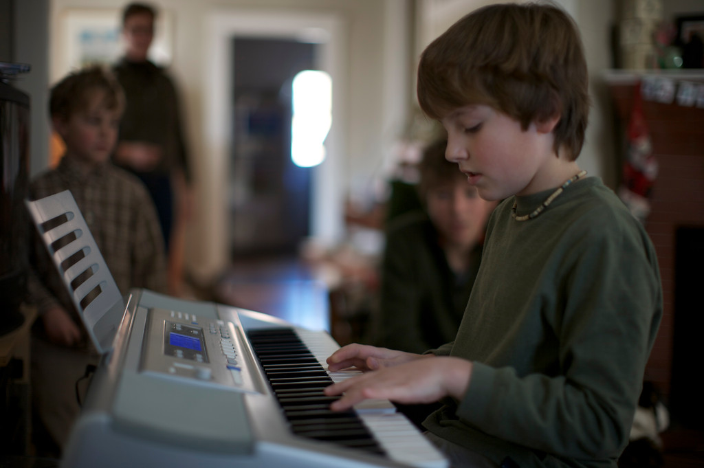 Will got an electric piano for Christmas