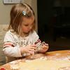 Kieran and Brenna make Christmas cookies for Santa