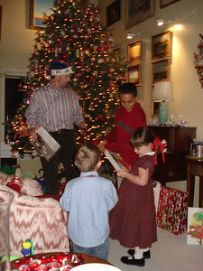 Andy playing Santa for the kids
