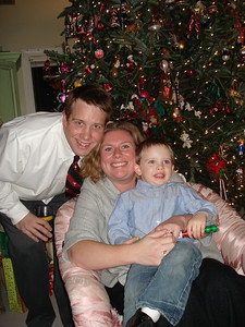 The Jason Haucks on Christmas Eve.  Alex was very excited as Santa Claus had just visited!