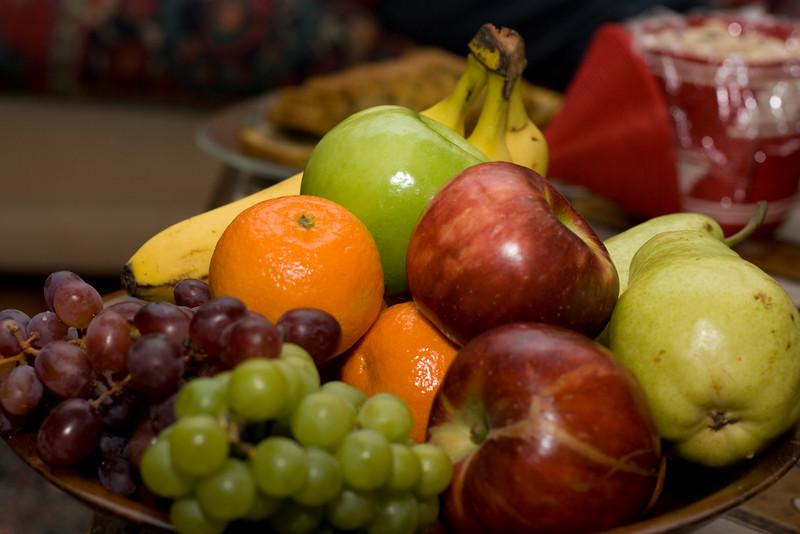 Abby's fruit arrangement.