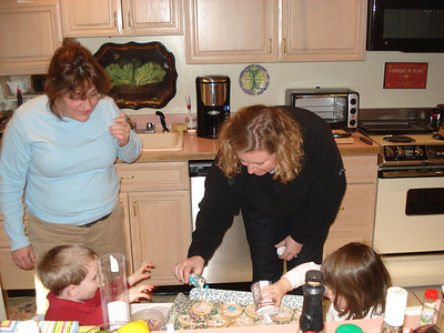 Auntie Jodes and Mama helping too