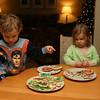 Kieran and Brenna choose the best cookies for Santa