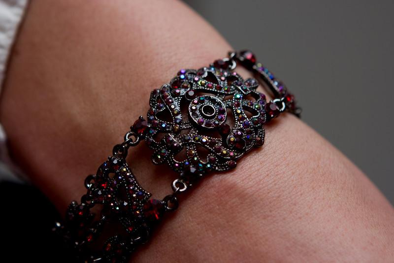 Bracelet (gift from Mom) on Abby.