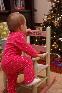 Lizzie's second favorite thing.  Rocking chairs...