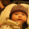 Colin in his new hat.  :-)