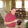 John opening gifts