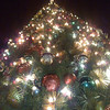 Near identical view of Christmas tree at Las American outlet, south of San Diego.