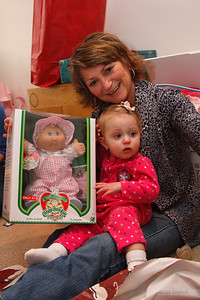 Lizzie's first Cabbage Patch doll.  It was bigger than she was when she was born.