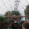 Christmas train and NY landmark model show at the Bronx botanical gardens.