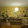 The Wall of Antiques in the kitchen.