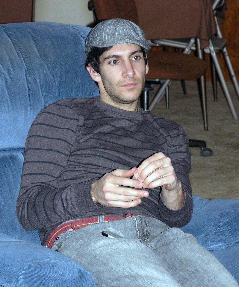 Dec 23.  Aaron arrives in the family room.