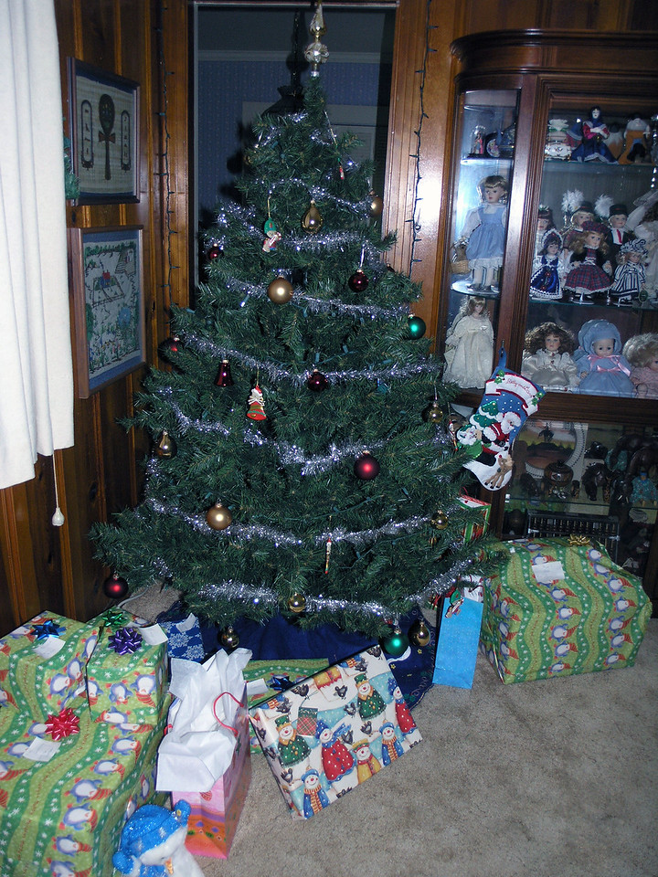 Dec 23.  Gifts from Santa pile up.