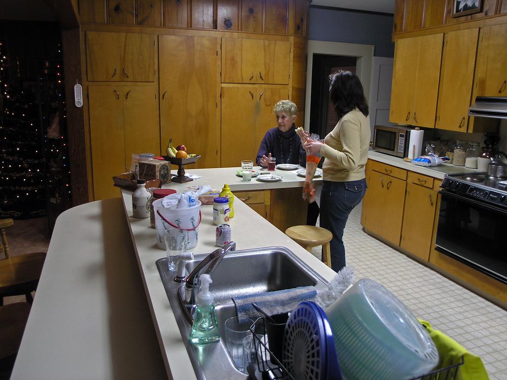 Dec 22.  Jo Ann prepares a sandwich for herself.