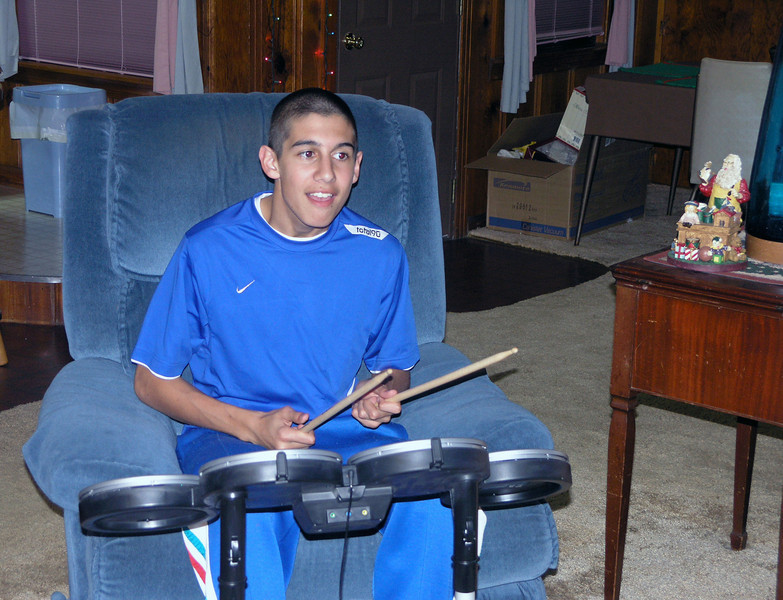 Dec 23.  Cameron on the drums.