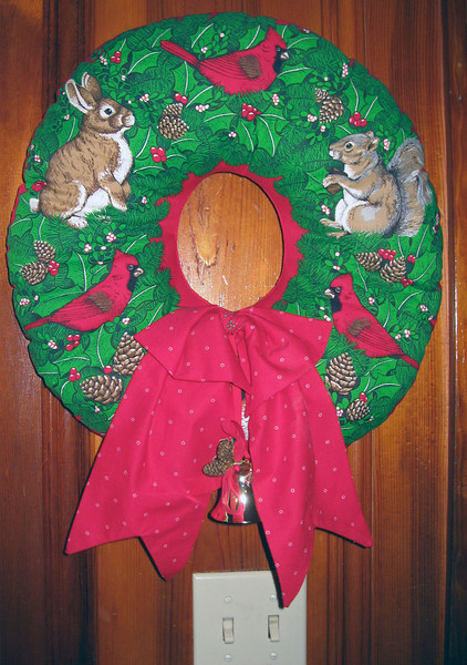 Dec 23.  Also a wreath near the door.