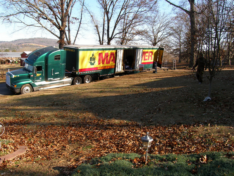 The moving van arrives, December 23, 2010