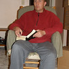 Reading the scriptures on Christmas Eve--well that's what was happening.  Not sure where the expression came from.