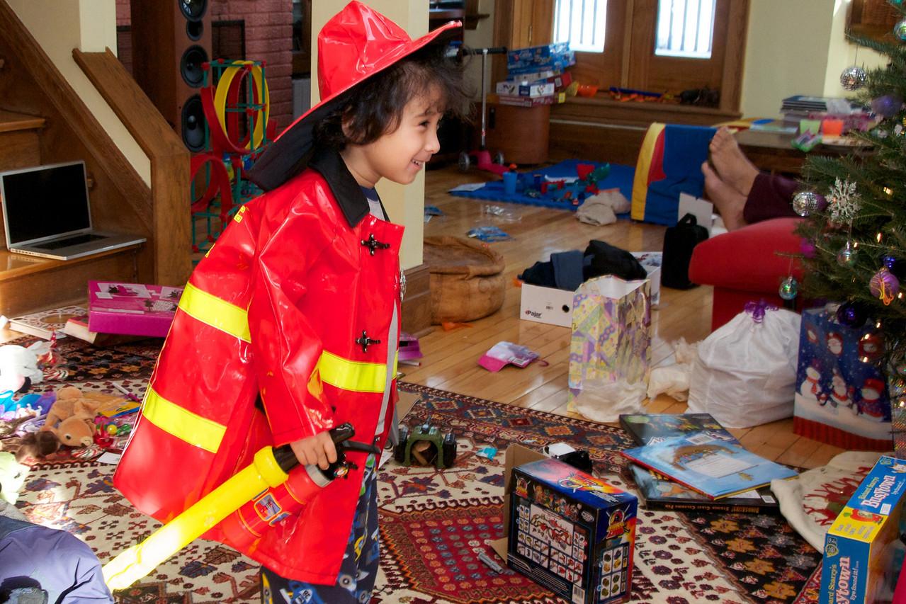 Fireman Jaden off to fight a fire