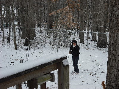Marilyn enjoying the snow