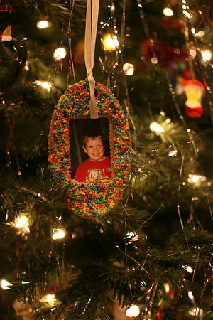 an ornament on the Chapman tree - who remembers this little boy?