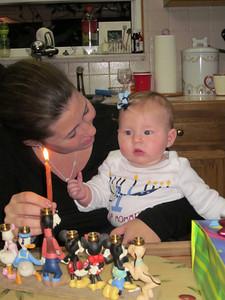 Mackenzie's first Hanukkah