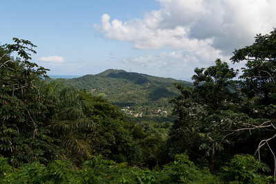 View from the top - one of the highest points on the island at over 600 feet from sea level...