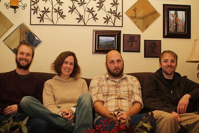 Drew, Catherine, Christian, Alex - Christian & Alex are her housemates