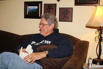 Granddad wearing his St. Augustine hoodie from Caleb