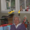 Nana is thrilled that this little copter is at least six feet from her head.