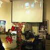 Elf playing on the projector in our office...