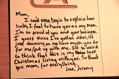 The card Jeremy gave me.