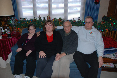 Christmas day: Michaela, Rosanne, Sid and Mike.