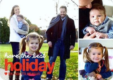 Christmas 2013 - Ben, Erica, Etta, Welles
