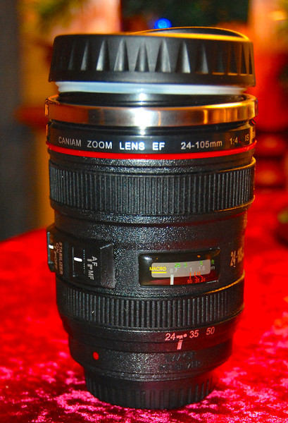 No, this isn't a lens. It's a coffee cup!