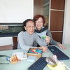 Po Yee with Sister Dr Christine Ma. <br /> Christine brought over from HK lovely gifts for us all.