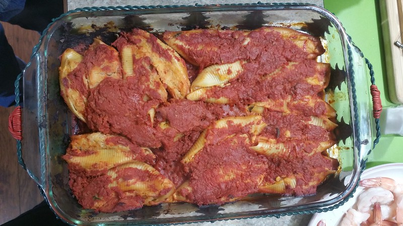 Vegan stuffed shells  from Leslie.