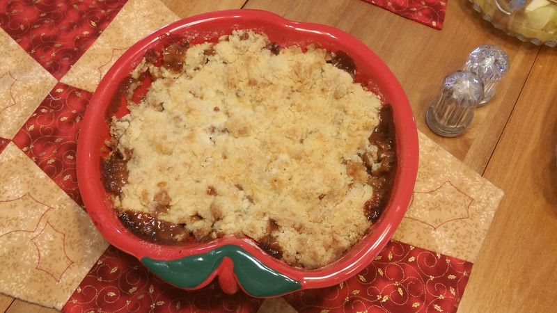 Apple cobbler made by Bev.