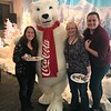 Melissa, me, and Emmaline with the Coca-Cola polar bear. (Photo taken with Melissa's camera.) The Depot Express North Pole, 12/13/2017