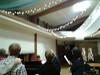 Advent potluck at church--caroling.