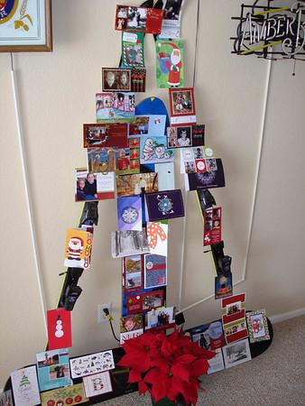 Christmas Card Display Tree, Dec 09
